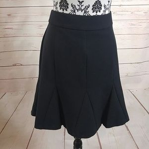 Banana Republic Black Career Flare Skirt